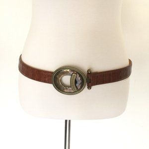 Accessories - Leather Belt Brown Medium Large New